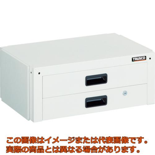 TRUSCO ツールワゴン ドルフィン用引出 2段 600X400 YG色 DLWS64XYG
