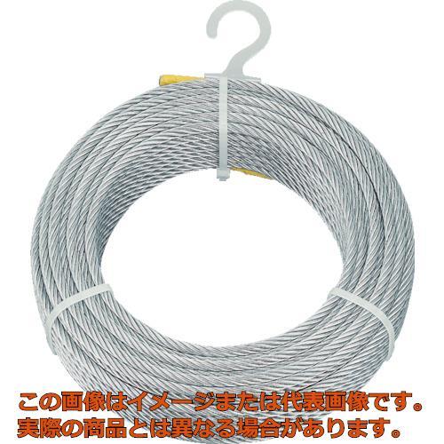 TRUSCO メッキ付ワイヤロープ Φ6mmX100m CWM6S100