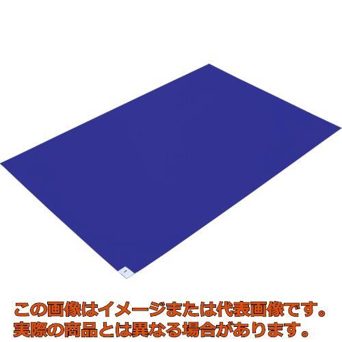 【代引き不可・配送時間指定不可】 TRUSCO 粘着クリーンマット 600X1200MM ブルー  (10枚入) CM6012-10B