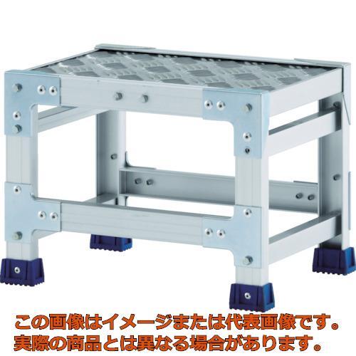 【代引き不可・配送日時指定不可】 アルインコ 作業台(天板縞板タイプ)1段 天板寸法500×400mm高0.25m CSBC125S