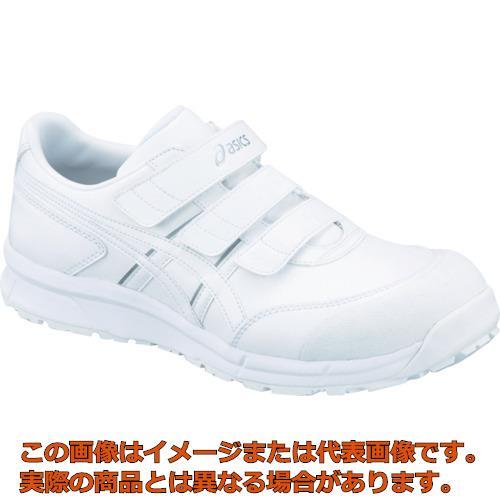 アシックス ウィンジョブCP301 ホワイトXホワイト 25.0cm FCP301.010125.0