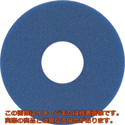 アマノ 自動床面洗浄機EG用パッド青 17インチ HFU202300 5枚