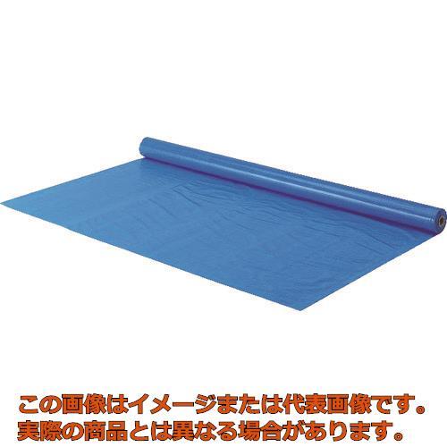 TRUSCO 防炎シートα軽量 ロールタイプ幅0.9mX長さ50.0m ブルー GBS900RAB