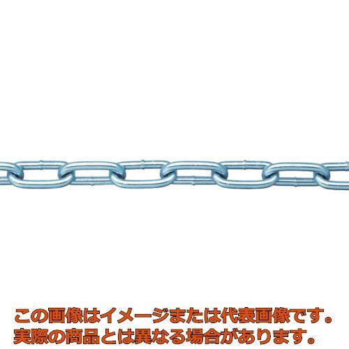 ニッサチェイン 鉄ユニクロ溶接リンクチェイン 4.8mm×30m IW2048