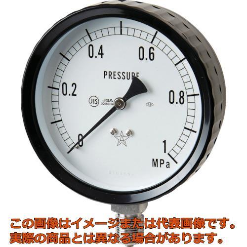 右下 ステンレス圧力計(A枠立型・φ100) 圧力レンジ0~1.60MPa G4112611.6MP