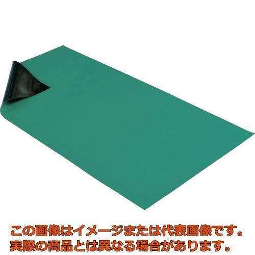HOZAN 導電性カラーマット 1X1.8M グリーン F727