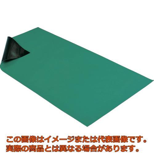 HOZAN 導電性カラ-マット 1×1.8M グリーン 補強繊維入り F757