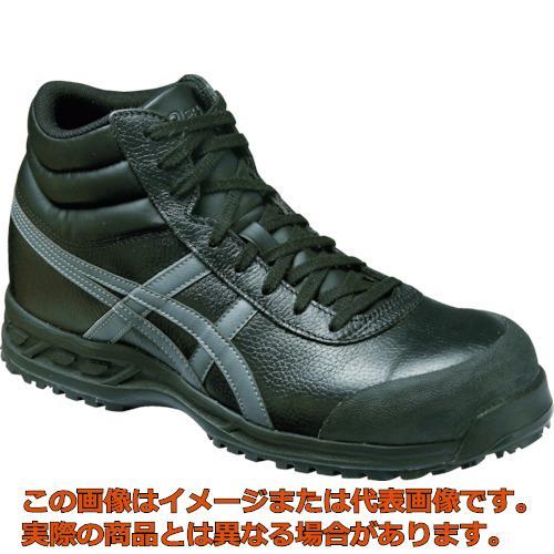 アシックス ウィンジョブ71S ブラックXガンメタル 25.0cm FFR71S.907525.0