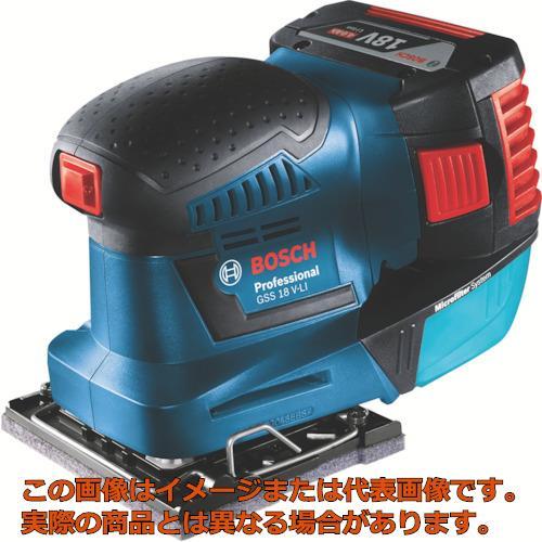 ボッシュ バッテリー吸塵オービタルサンダー GSS18VLIH