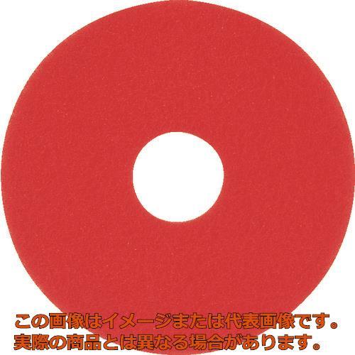 アマノ フロアパッド17 赤 HAL700800 5枚