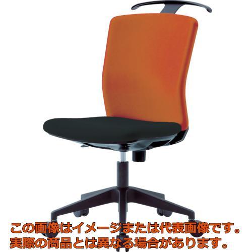 【代引き不可・配送時間指定不可】 アイリスチトセ ハンガー付回転椅子(フリーロッキング) オレンジ/ブラック HG-X-CKR-46M0-F-OG