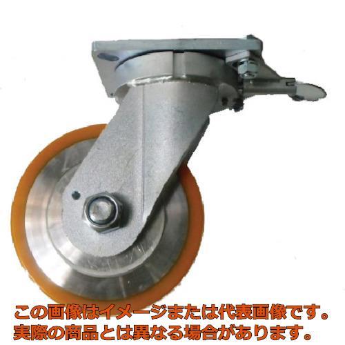 ヨドノ 超重量用高硬度ウレタン自在車旋回ロック付 1500kg用 HDUJ150TL