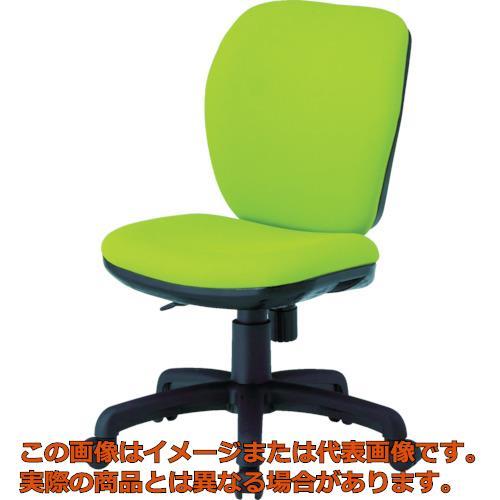 【代引き不可・配送時間指定不可】 TOKIO オフィスチェア 肘なし モスグリーン FST-77-MG