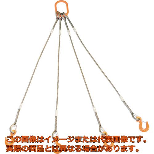 TRUSCO 4本吊りWスリング フック付き 12mmX3m GRE4P12S3