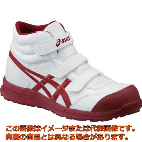 アシックス ウィンジョブ CP302 ホワイト×バーガンディ 22.5cm FCP302.012622.5