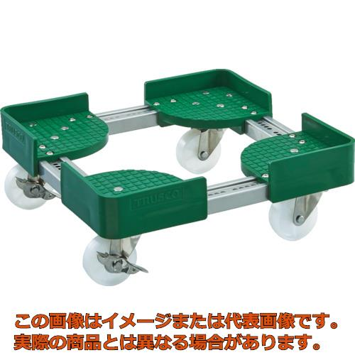 TRUSCO 伸縮式コンテナ台車SUS 内寸300-400X400-500 S付 FCD3040SUSS