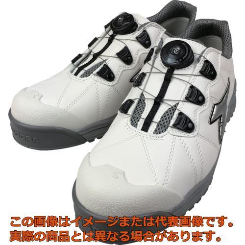 ディアドラ DIADORA安全作業靴 フィンチ 白/銀/白 24.5cm FC181245