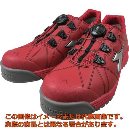 ディアドラ DIADORA安全作業靴 フィンチ 赤/銀/赤 27.5cm FC383275