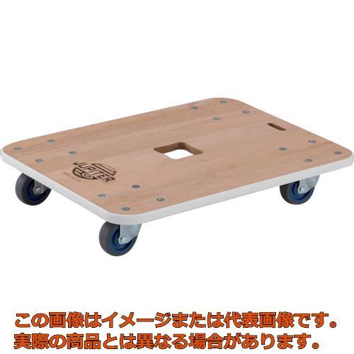 TRUSCO 木製平台車 ジュピター 450X450 φ75 200kg JUP4545200