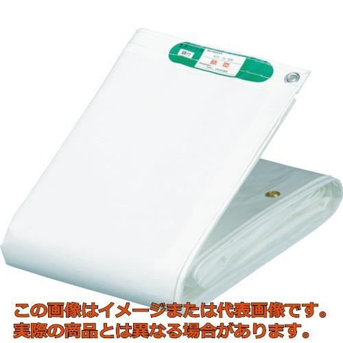 萩原 国産塩ビ防炎シート 養生用 ホワイト 5.4m×7.2m KEB5472