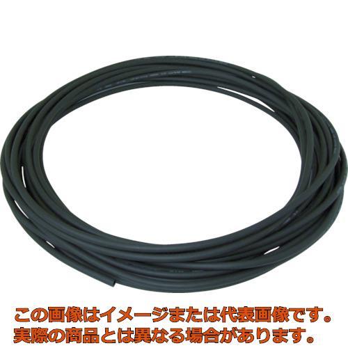 チヨダ エルフレックス二重管チューブ 6mm/100m 黒 LE6100 BK