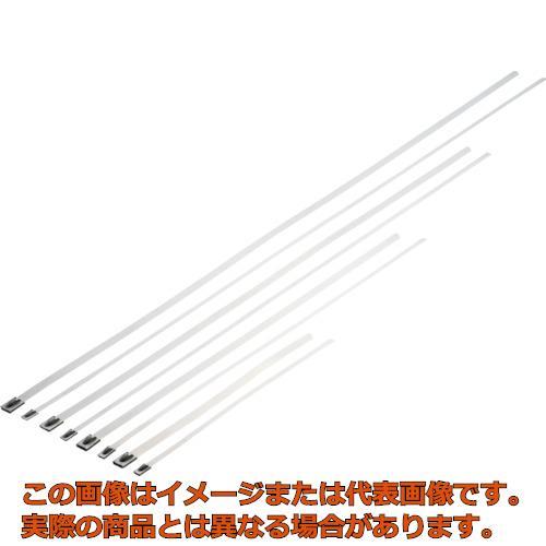 パンドウイット MLTタイプ 自動ロック式ステンレススチールバンド SUS304 幅4.6mm 長さ681mm 100本入り MLT8S-CP MLT8SCP