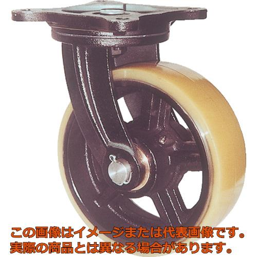 ヨドノ 鋳物重量用キャスター 許容荷重774.2 取付穴径15mm MUHAMG200X75