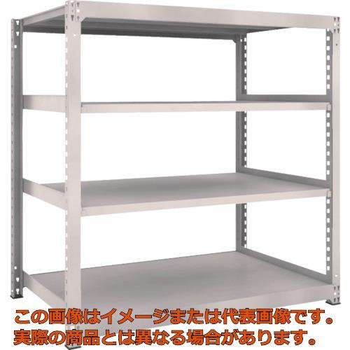 【年中無休】 TRUSCO M5型中量棚 1500X921XH1500 4段 単体 ネオグレー NG:工具箱 店 M55594-DIY・工具