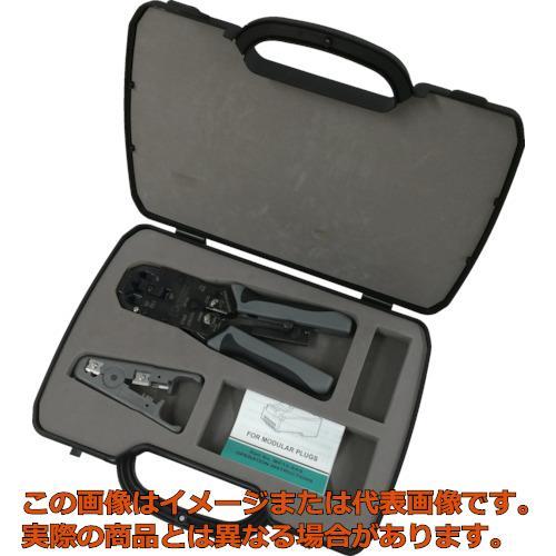 パンドウイット モジュラプラグ圧着工具 マルチタイプ ケース付キット MPT5EKIT