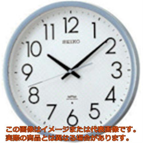 SEIKO 電波掛時計 直径390×52 P枠 銀色半光沢 KS265S