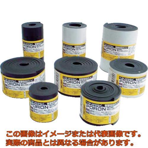 イノアック マイクロセルウレタンPORON 黒 10×100mm×7M巻(テープ L24T101007M