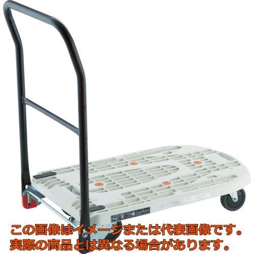 【配送日時指定不可】TRUSCO 樹脂台車 カルティオフラット 回転 780X490 白 MPK720F2W