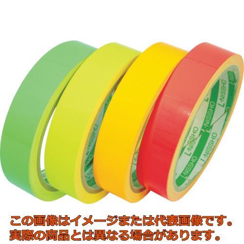 日東エルマテ 蛍光テープ 400mmX5m レッド LK400R