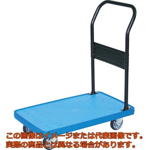 TRUSCO MKP樹脂製台車 固定式 716X436 ブルー MKP158B