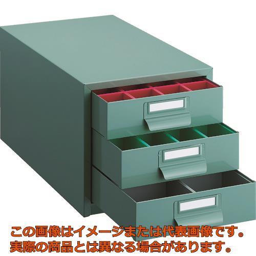 TRUSCO ツールケース 233X410XH222 引出3段 プラボックス付 PT36CN