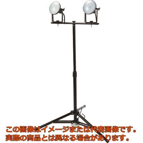TRUSCO LED投光器 DELKURO 三脚タイプ 2灯 20W 5m アース付 2芯3芯両用タイプ RTLE205EPSK2
