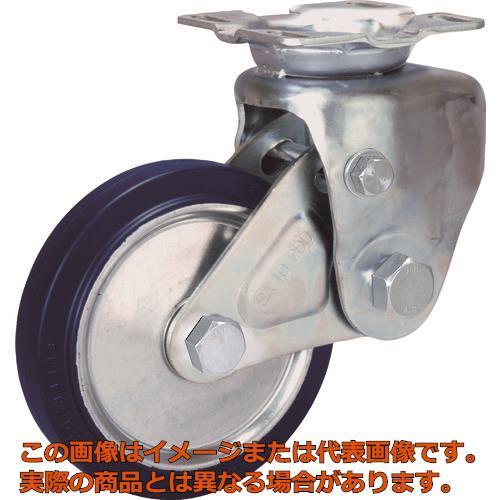 シシク 緩衝キャスター 固定 200径 スーパーソリッド車輪 SAKTO200SST