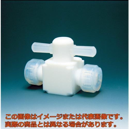 フロンケミカル フッ素樹脂(PTFE)二方バルブ圧入型 12φ NR0003004