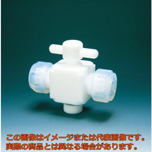 フロンケミカル フッ素樹脂(PTFE)二方バルブ接続12mm NR0028004