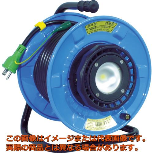 日動 防雨防塵型LEDライトリール(照明付ドラム) 20m SDWE2210W