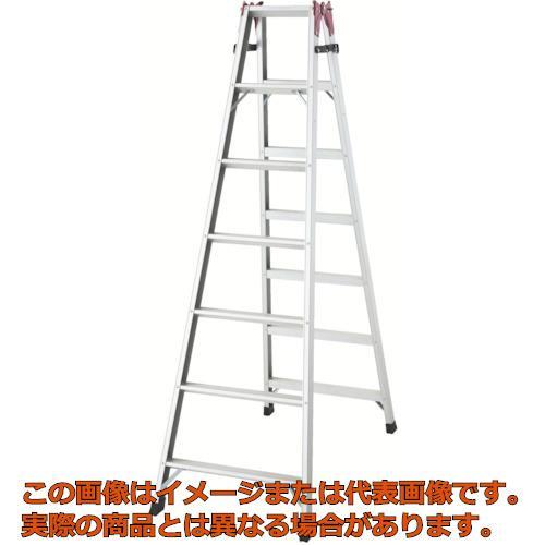 【代引き不可・配送時間指定不可】ハセガワ アルミ合金製はしご兼用脚立 RAX2.021