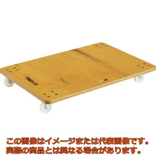 【配送日時指定不可】TRUSCO 合板平台車プティカルゴ 900X600 ナイロン車 PC-6090 (600X900 24T)Nキャスター