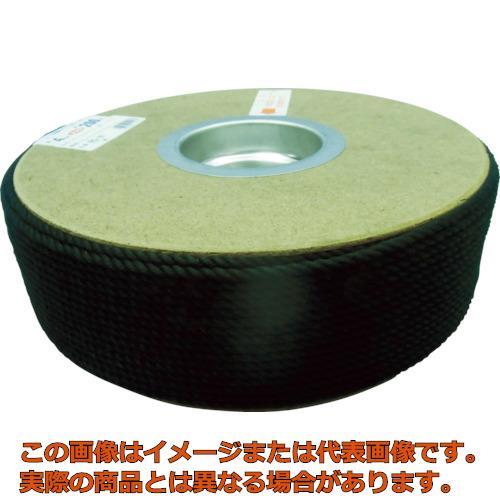 ユタカメイク ポリエステルロープ ドラム巻 4φ×200m 黒 PRS81