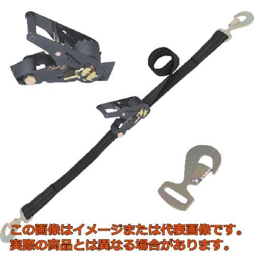 シライ ラチェットバックル 黒 スナップフック付 RK50LB6SHF500