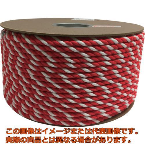ユタカメイク アクリル紅白ロープ 9mmm×150m PRZ55