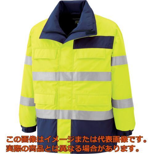 ミドリ安全 高視認性 防水帯電防止防寒コート イエロー L SE1124UEL