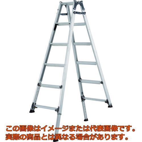 【代引き不可・配送時間指定不可】アルインコ 伸縮脚付きはしご兼用脚立(踏ざん幅60mm・各脚441mm伸縮) PRT210FX