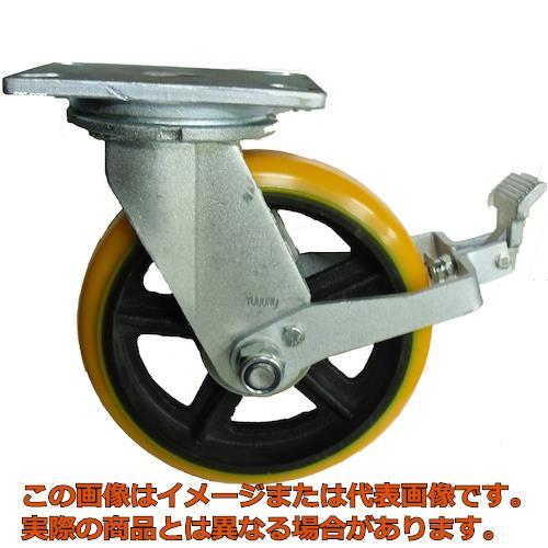 ヨドノ 重量用高硬度ウレタン自在車200φストッパー付 SDUJ200ST