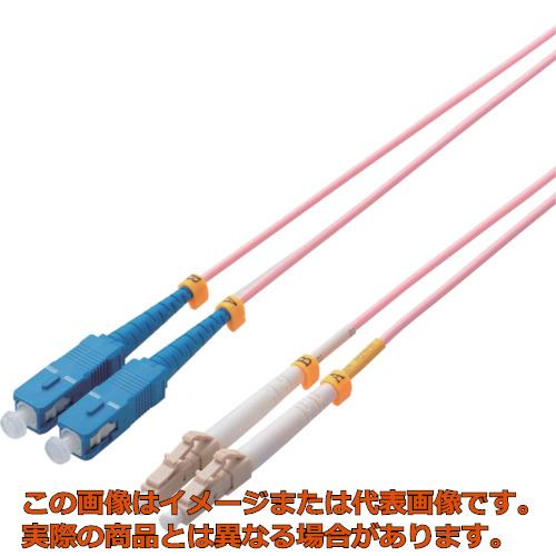 エレコム 光ファイバーケーブル マルチモード 10G LC-SC 1m OCLCSC5OM31