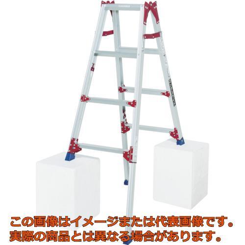 【代引き不可・配送時間指定不可】ピカ 四脚アジャスト式脚立すぐノビSCP型 SCP120L